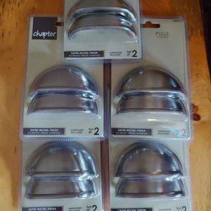 Satin Nickel Cup Drawer Pull Lot